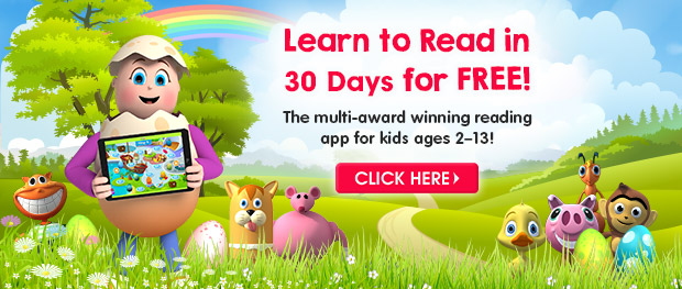Learn to Read in 30 Days for FREE. The multi-award winning reading app for kids ages 2-13. Click Here